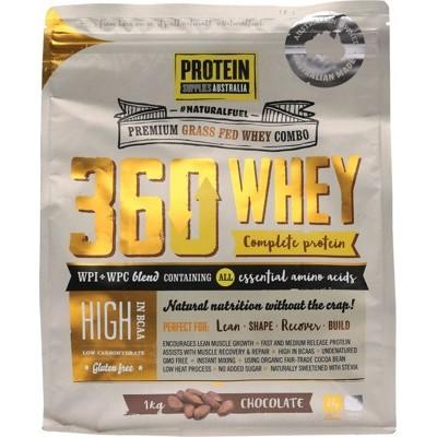 PROTEIN SUPPLIES AUST. 360Whey (WPI+WPC Combo) Chocolate 1kg