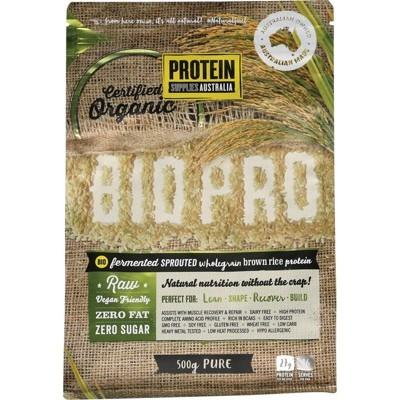 PROTEIN SUPPLIES AUSTRALIA Sprouted Organic Brown Rice Protein Pure 500g