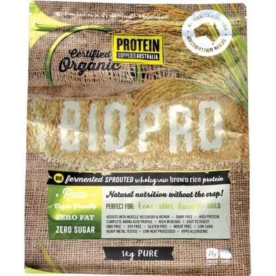 PROTEIN SUPPLIES AUSTRALIA Sprouted Organic Brown Rice Protein Pure 1kg