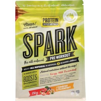 PROTEIN SUPPLIES AUST. Spark (All Natural Pre-workout) Strawberry & Passionfruit 250g