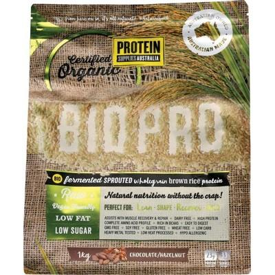 PROTEIN SUPPLIES AUSTRALIA Sprouted Organic Brown Rice Protein Choc Hazelnut 1kg