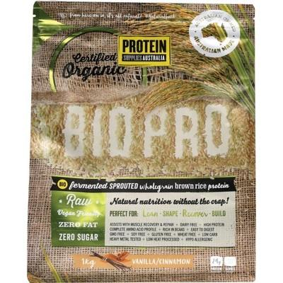 PROTEIN SUPPLIES AUSTRALIA Sprouted Organic Brown Rice Protein Vanilla Cinnamon 1kg
