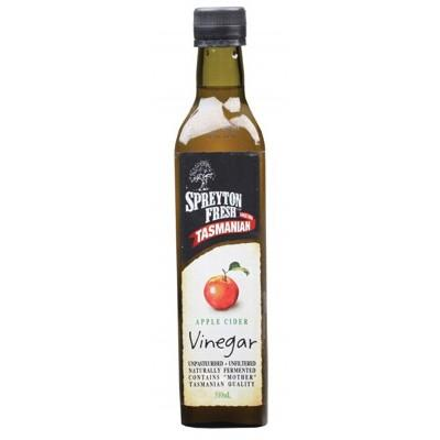 SPREYTON FRESH Apple Cider Vinegar (Glass) Unpasteurised & Unfiltered 500ml