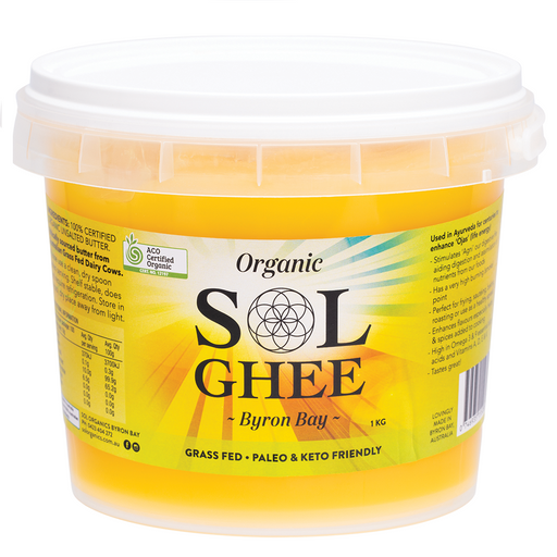 Sol Organics Organic Ghee - Unsalted Butter from Grass-Fed Cows