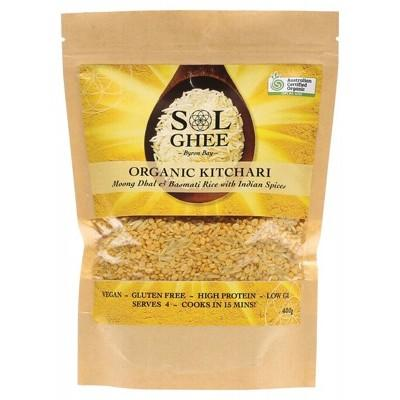 SOL ORGANICS Organic Kitchari Moong Dhal & Basmati Rice Mix 400g