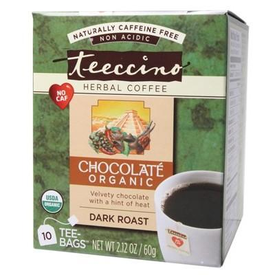 TEECCINO Organic Chocolate Herbal Coffee Bags - 10