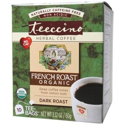 TEECCINO Organic French Roast Herbal Coffee Bags - 10