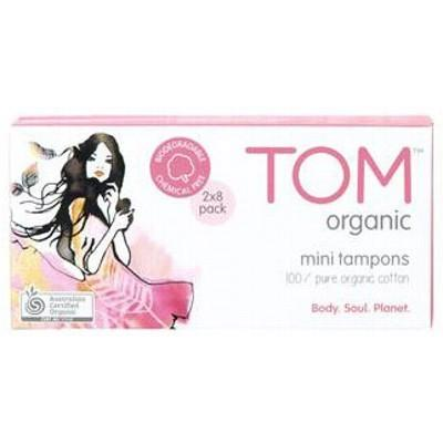 TOM ORGANIC 16 Mini Organic Cotton Tampons