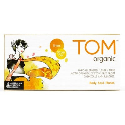 TOM ORGANIC Panty Liners Ultra Thin Liners for Everyday 26