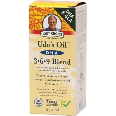UDO'S CHOICE - Organic Suitable for Vegetarians DHA Oil Blend - 250ml