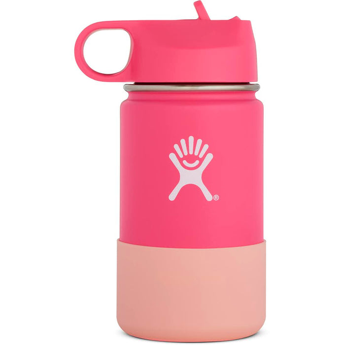 HYDRO FLASK Wide Mouth Kids Bottle - Straw Lid Double Insulated - Watermelon