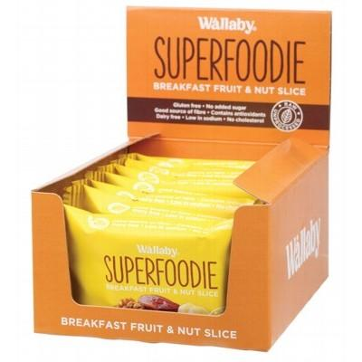 WALLABY SUPERFOODIE Breakfast Fruit and Nut Slices Banana Coconut Walnut Chia 48g