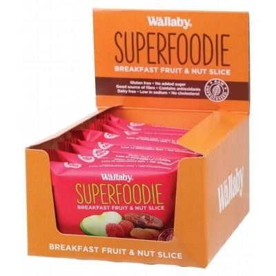 WALLABY SUPERFOODIE Breakfast Fruit and Nut Slices Apple Raspberry 48g