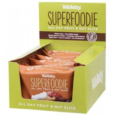 WALLABY SUPERFOODIE All-Day Fruit and Nut Slices Cappuccino Cacao 48g