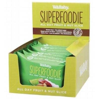 WALLABY SUPERFOODIE All-Day Fruit and Nut Slices Coconut Lime 48g