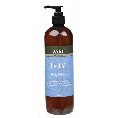 WILD Herbal Organic Body Wash 500ml