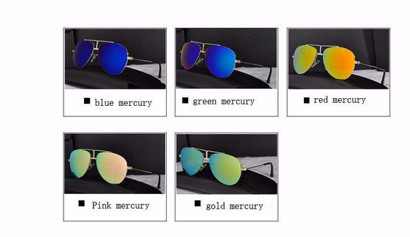 Kids Mirror Coating Sunglasses - Girls / Boys Children Oval UV400 Protection Shades