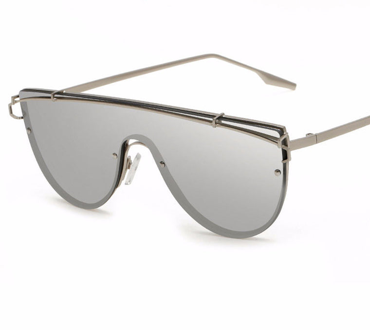 Men Reflective Metal Sunglass Frames -  Fashion Sun Glasses - 2285