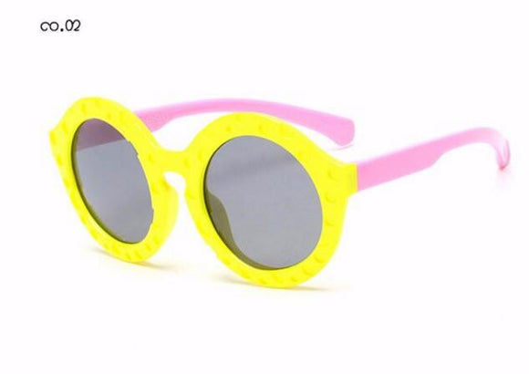 Kids Polarized Sunglasses - Outdoor Safety Sunglasses - Round Flexible Rubber Eyewear
