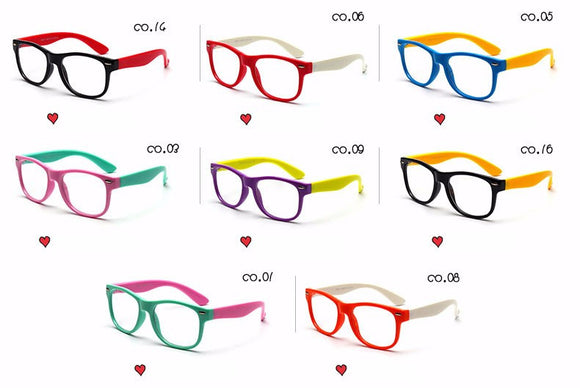 Kids Transparent Eyeglasses - Boy / Girl Prescription Optic Spectacle Frames Eyewear