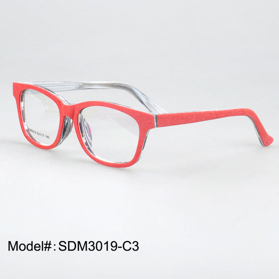 Wooden Prescription Eyeglasses - Imitation Wooden Frames -  RX Optical Myopia Eyewear Spectacles - SDM3019