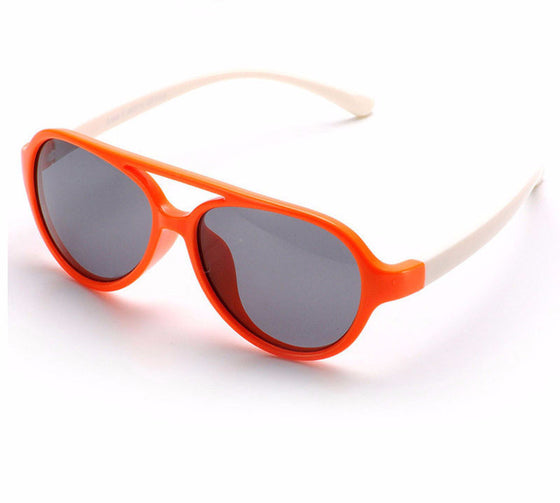 Kids Polarized Sunglasses - Girls Boys Anti UV Oval Sunglasses