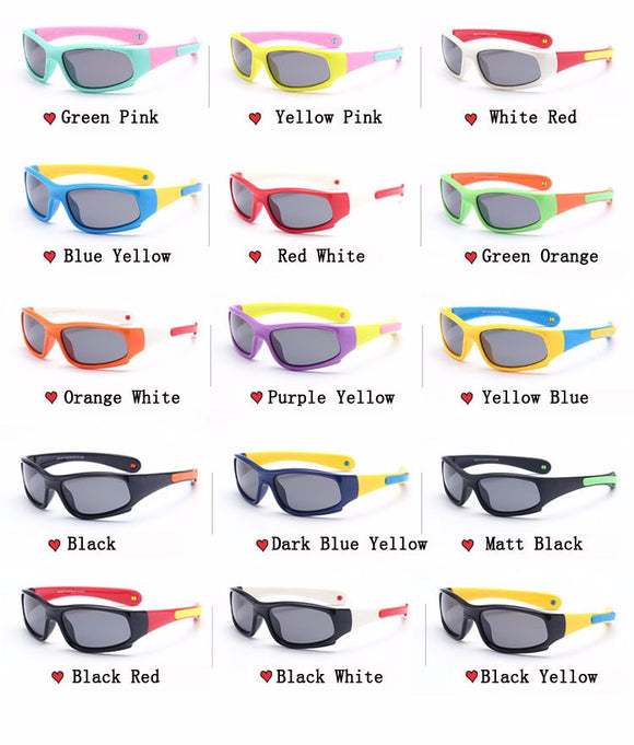 Kids Polarized Sunglasses - Girls / Boys Anti UV Protection Eyewear