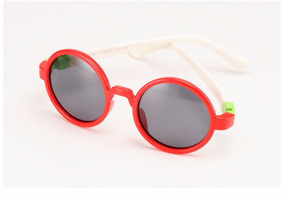 Kids Polarized Sunglasses - Boys / Girl Anti UVA Round Sunglasses - TAC Flexible Circle Eyewear