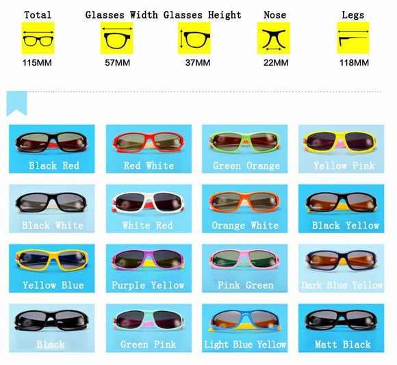 Kids Polarized Sunglasses - Boys / Girls Anti UVA Sunglasses - TR90 Sport Goggle Eyewear Accessories Oculo