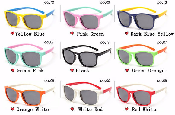 Kids  Polarized Sunglasses - Boy / Girl Square Sunglasses - Anti UV Sport Goggles