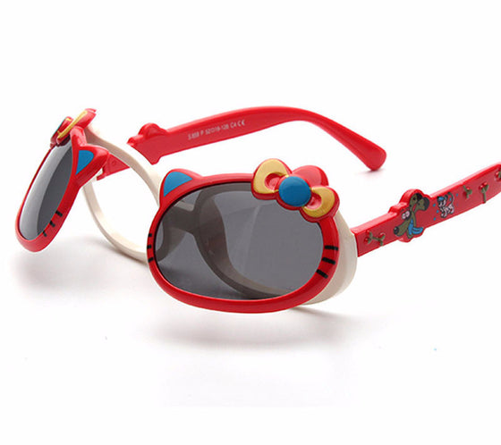 Kids Polarized Sunglasses -  Lovely Cat Flip Up Sunglasses - UV400 Sun Protection Eyeglasses