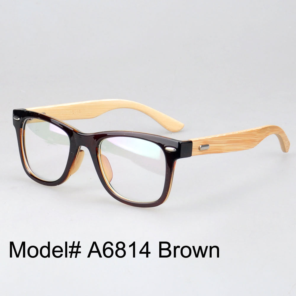 Plastic Optical Eyeglass Bamboo Frames - Myopia Eyewear Prescription ...