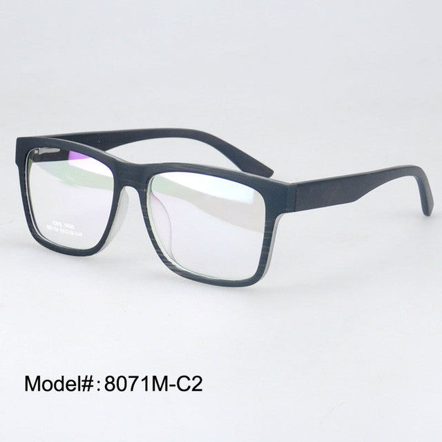 293aa7a43b TR90 Optical Eyeglass Wood Temple Acetate Frames w . Spring Hinge - Myopia Eyewear  Spectacles - Unisex 8071M