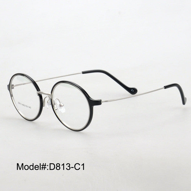TR90 Optical Eyeglass Metal Temple Plastic Frames -  Myopia Eyewear Spectacles - Unisex D813