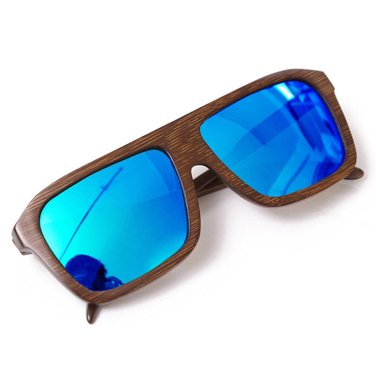- Bamboo Wood Sunglasses UV400 Polarized Sunglasses - Handmade Wood Designer Brand Eyewear Unisex