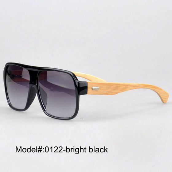 Polarized Optical Sunglass Bamboo Temple Plastic Frames - New 2017 Myopia Eyewear Spectacles - Unisex J0122