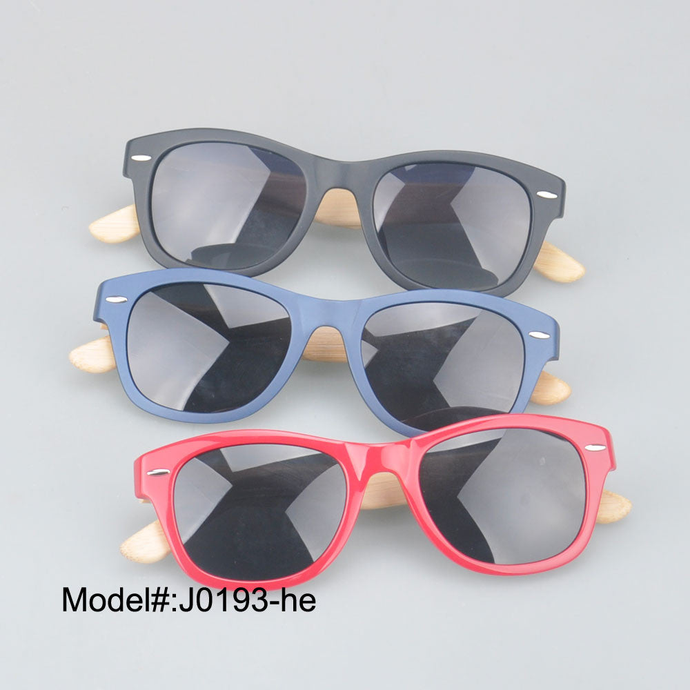 Polarized Optical Sunglass Bamboo Temple Plastic w/. Spring Hinge ...