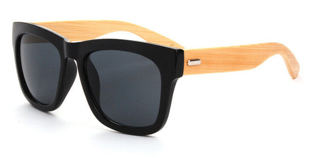 - Bamboo Wood Sunglasses UV400 Polarized Sunglasses - Handmade Wood Legs Designer Brand Eyewear Unisex