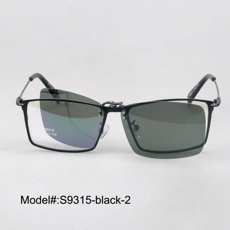 Polarized Optical Sunglass Clip-On Metal Frames - New  Myopia Eyewear Spectacles - Unisex S9315