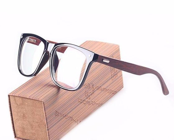 BZ / 2017 Full Rim - Big Face Wooden Arms Frame Myopia Glasses - Prescription Glasses Optical Myopia Eyewear -  New Protection Eyeglasses