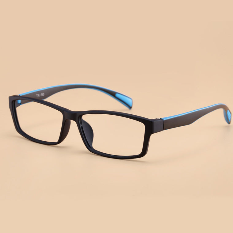 BZ /  New Fashion Korean Brand TR90 Men New Eyeglasses Frame Flexbile Square Optical Frame Basketball/Football Jogging Goggle
