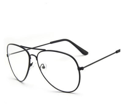 BZ /  Full Rim - Fashion pilots metal glasses full frame 3026 large frame Korean  retro mirror Optical Prescription RX Frame