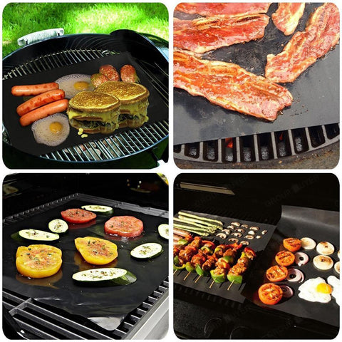 Image of Reusable Non-Stick BBQ Grill Mat (set of 2)