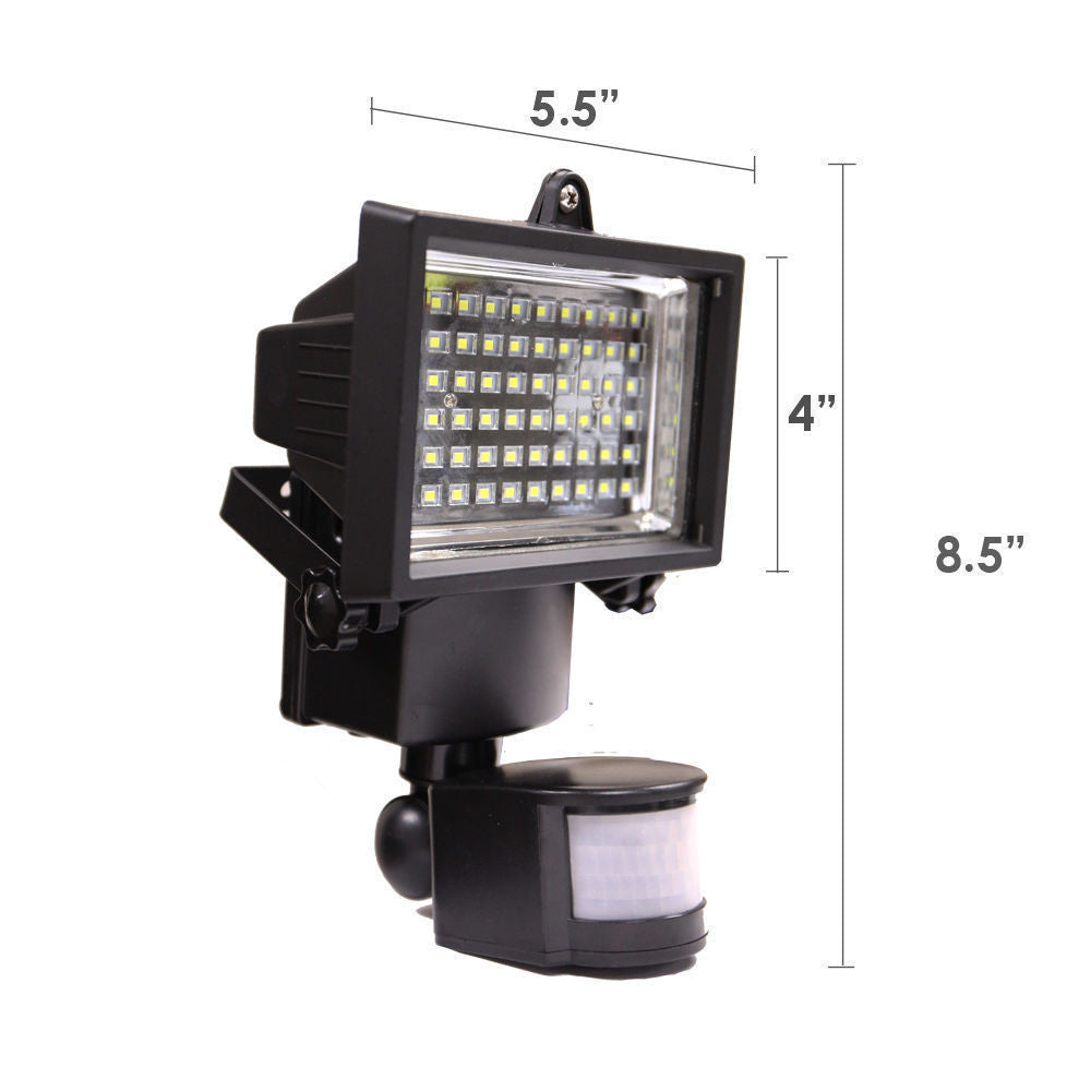 60 LED Solar Light, Outdoor Security Floodlight, 300 Lumen