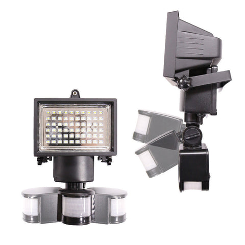 Image of 60 LED Solar Light, Outdoor Security Floodlight, 300 Lumen, IP65 Waterproof, Auto-induction, Solar Flood Light for Lawn, Garden.