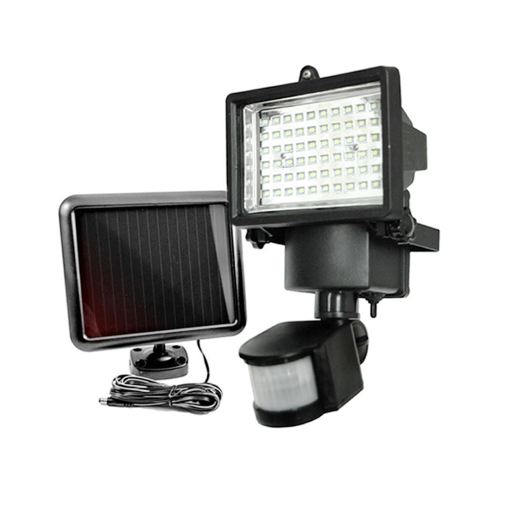 60 LED Solar Light, Outdoor Security Floodlight, 300 Lumen, IP65 Waterproof, Auto-induction, Solar Flood Light for Lawn, Garden.