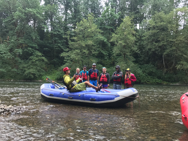 Safety Meeting.  River Rafting.  Rogue.  Deschutes.  Oregon.  Fun.  Rafting Guide.