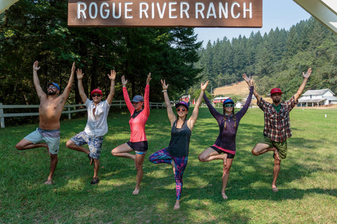 yogis in paradise tree pose rogue river ranch