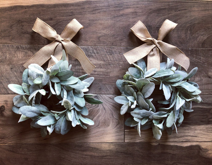 "Mini 10"" Lambsear Wreath (Made to Order)"