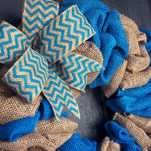 SALE!!! Blue Burlap Wreath
